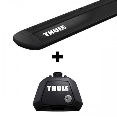Stogo bagažinės skersinių komplektas Thule EVO 7104 Black